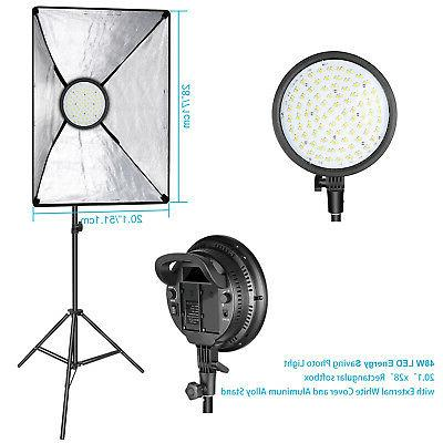 Neewer Dimmable LED Softbox Lighting 48W Temperature LED