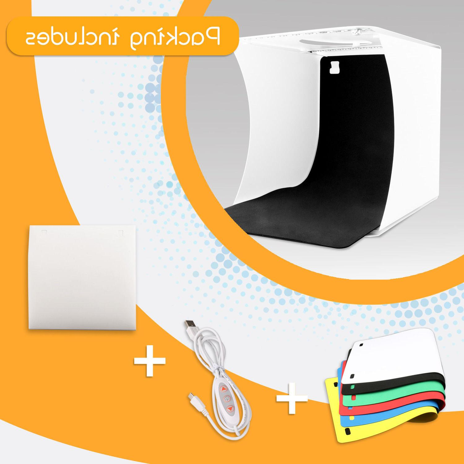 Double LED Room Photo Photography Tent Kit 6