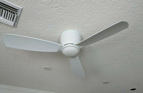 embrace 44 ceiling fan matte white led