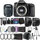Canon EOS 80D 24.2MP DSLR Camera w/ 18-55mm Lens and 32GB Ac
