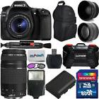 Canon EOS 80D Digital Camera + 18-55mm IS + 75-300mm Top Val