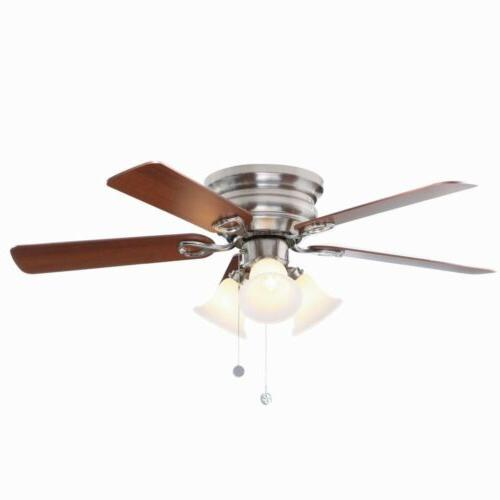 Indoor/Outdoor Lighting Brushed Nickel Mounting Ceiling Fan