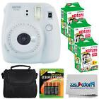 Fujifilm Instax Mini 9 Instant Camera Smokey White + 60 Film