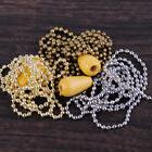 Iron 1M Light Pull Chain Beaded Ball Chain Kit Ceiling Fan L