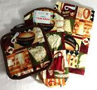 Kitchen Towel Oven Mitt Potholders Set of 4 Coffee Cafe Tea