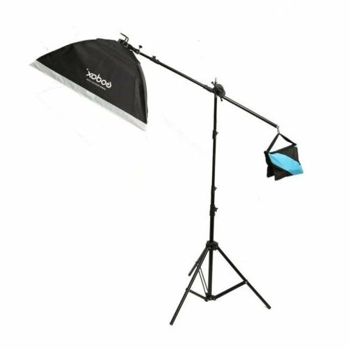 Godox LB-03 Light Stand Kit with Boom Arm and Sandbag For St