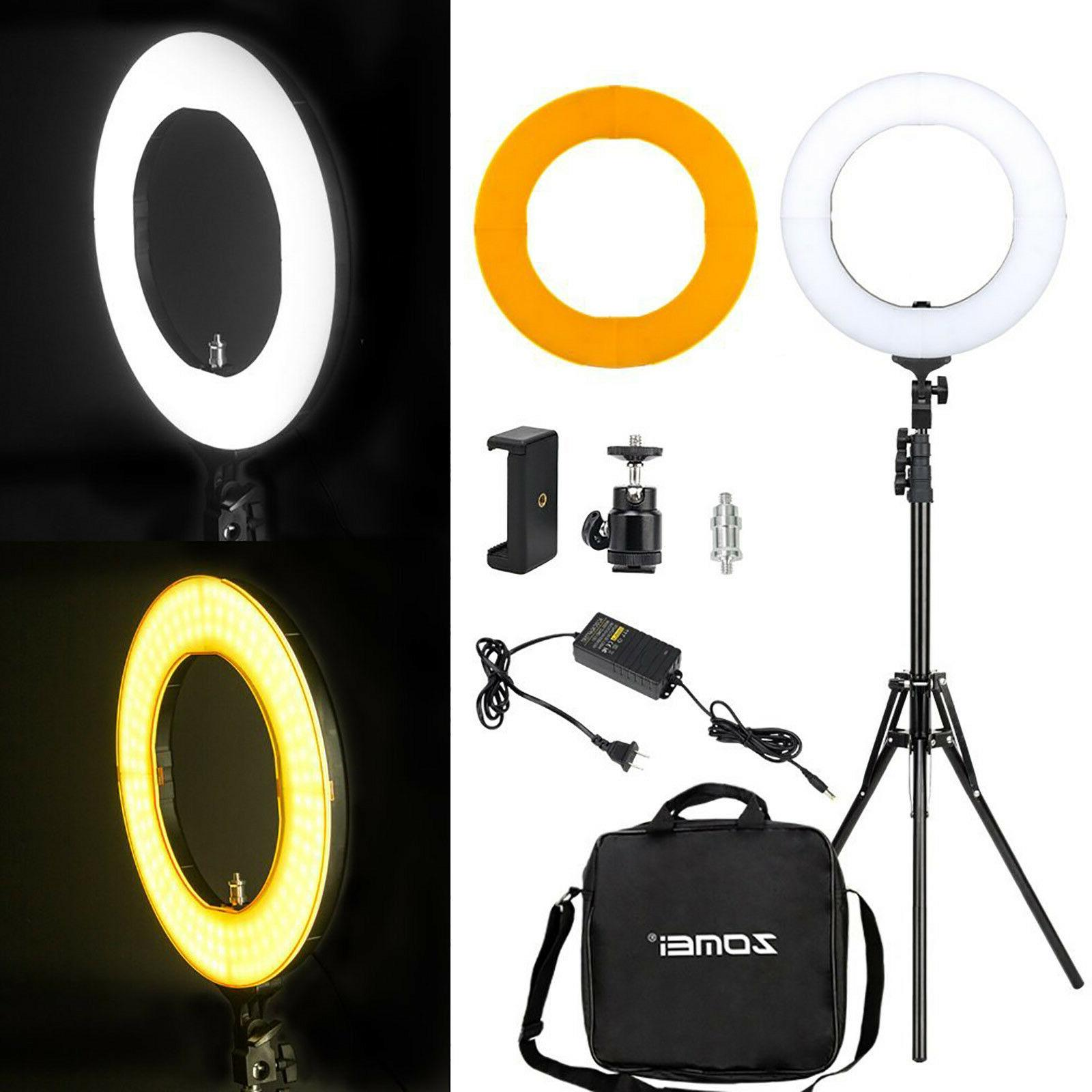 LED Ring Light with Stand 5500K Dimmable LED Lighting Kit Ma