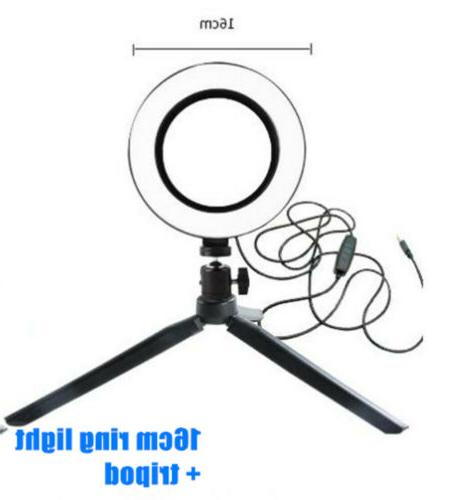 LED Ring Phone Studio Video Dimmable Tripod Stand