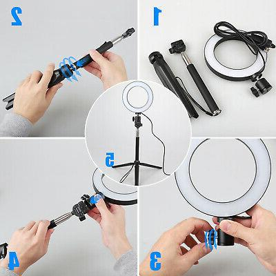 6'' 8'' SMD Ring Light Kit Stand For Camera