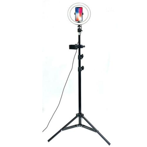 LED Light with Tripod & Holder Dimmable Ringlight