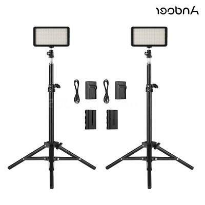 Andoer LED Video Light Kit 2pcs 3200K/6000K Light+2pcs Light