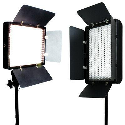 2 X 500 LED Light Panel Kit Photography Video Studio Lightin
