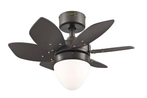 Lighting Origami Reversible Fan, Espresso Frosted - -