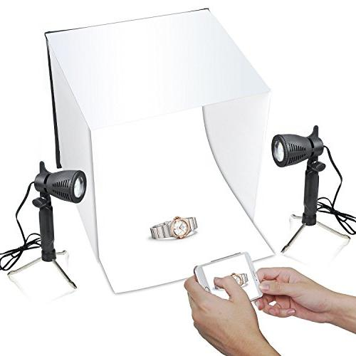 Emart 16 Inch Box Tabletop Light Portable Table Tripod Stand Holder for