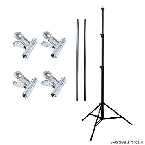 Linco Portable T-shape Backdrop Stand Kit - Wide and 6.7ft - Lightweight Lbs to and Storage