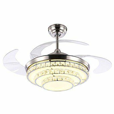 42'' Crystal Invisible Fan Ceiling LED Kit Remote Control