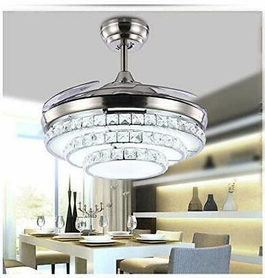 low price 42 crystal led ceiling fan
