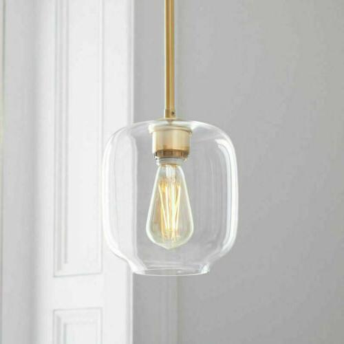Mid Century Modern Glass Jar Light Pendant Kit