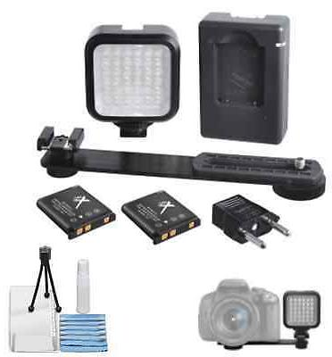 MINI PORTABLE LED VIDEO LIGHT KIT WITH BATTERIES & CHARGER -