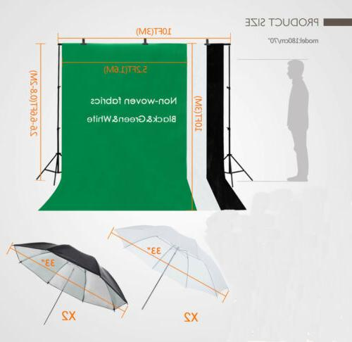 NEW Photography Backdrop Stand Light Kit US