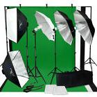 Photo Studio Photography Lighting Kit Umbrella Softbox Musli