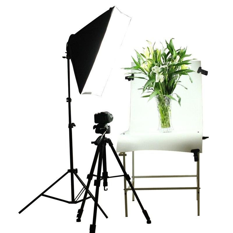 Photo Diffuser <font><b>Softbox</b></font> E27 Holder Lighting Stand with