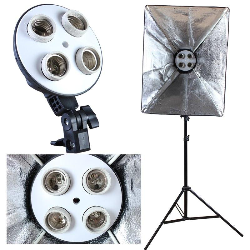 Photo Studio Diffuser 50*70cm <font><b>Softbox</b></font> Holder Lighting Soft Box include Stand with