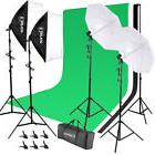 Photography Studio Lighting Kit + Background Stand Set with
