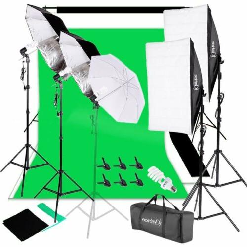 photo studio photography lighting kit umbrella softbox