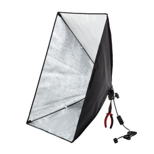Photo Studio Continuous Lighting Kit Muslin Backdrop