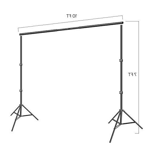 Emart Photo 1500W 5500K Kit 7x10ft System Muslin Backdrop Screen Video with Portable Carry
