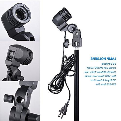 Emart Photo 1500W 5500K Kit System Muslin Backdrop Screen Video Shooting with Carry