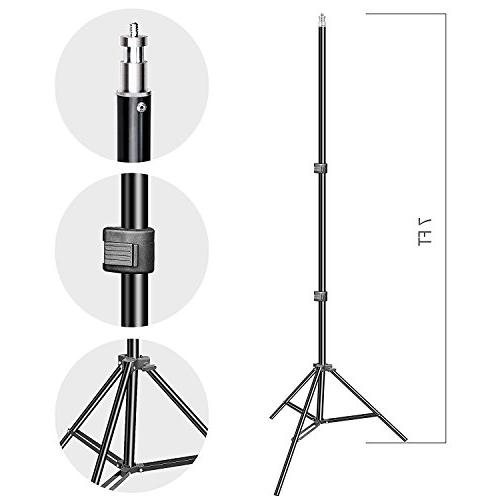 Emart Photo 1500W 5500K Umbrella Lighting Kit Support System with Screen Portrait Video Shooting Carry