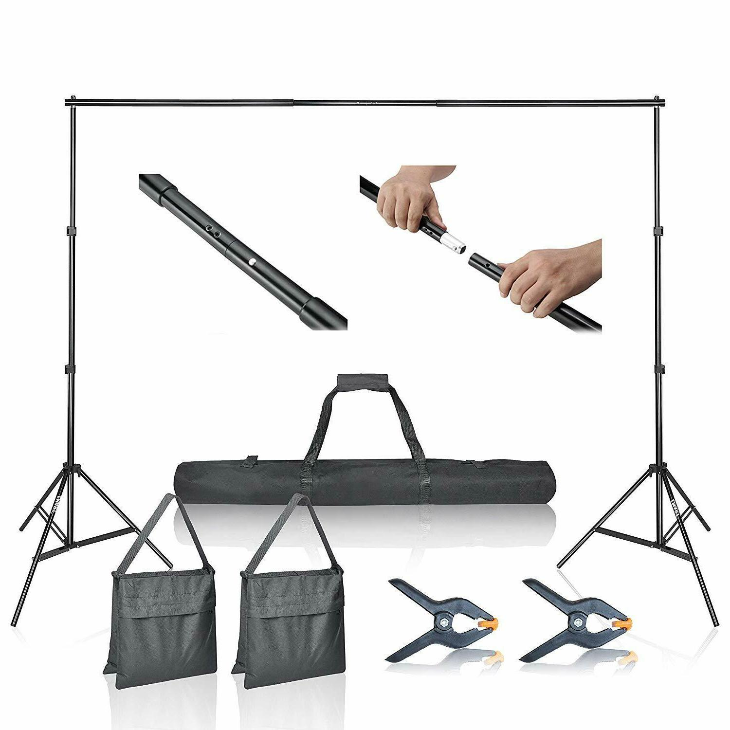 Emart Photo Video Studio 10Ft Adjustable Background Stand Ba