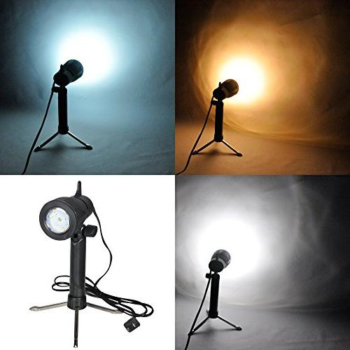 Emart Photography LED Continuous Light 5500K Table Top Studio 2 Sets