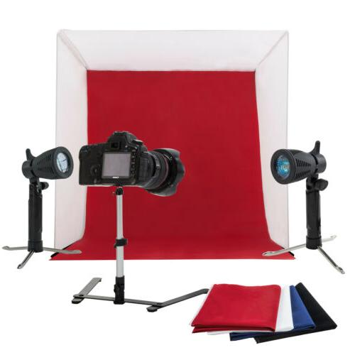 "24"" Photo Studio Light Kit Cube A Box"