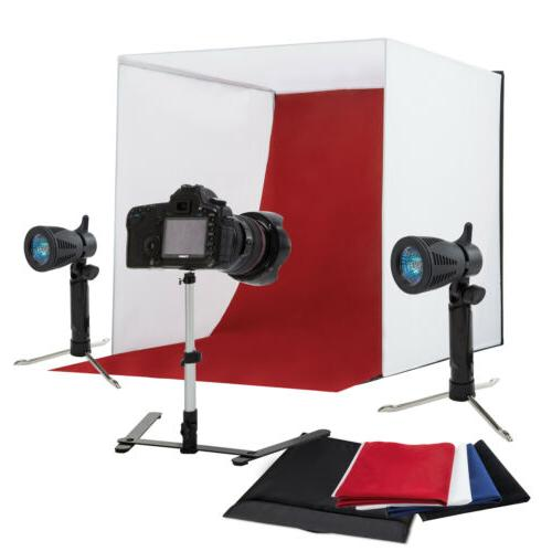 "24"" Photography Light Tent Backdrop Cube Lighting A"
