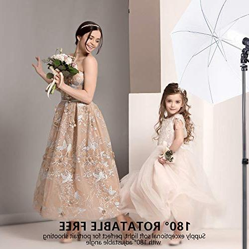 Photography Kit, 3M/8.5ft 10ft Background Support 800W Umbrella 2M for Video Shooting