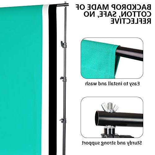 Photography Softbox Backdrop Lighting Kit, 3M/8.5ft Support 800W Umbrella 2M Stand for Photo Shooting