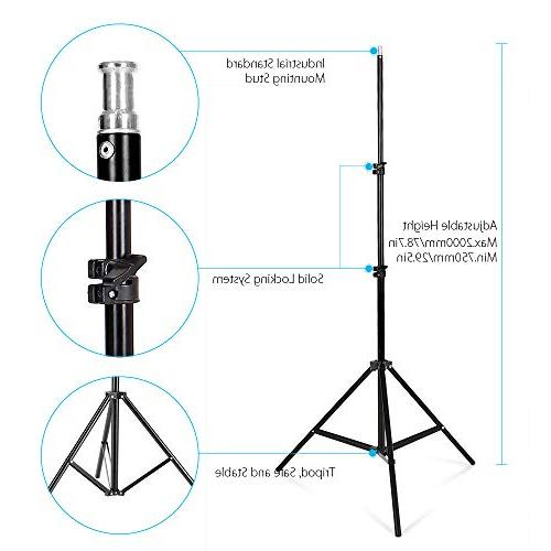 Andoer Lighting Kit, Studio Stand Kit with 3 9.8ft for Photography and Carrying