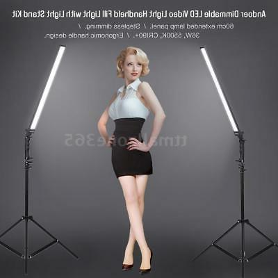 Andoer Photography Studio LED Video Light Lamp Handheld Dimm