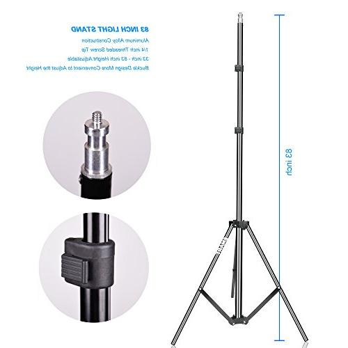 Emart Kit, 400W 5500K Portrait Continuous for Camera Video Shooting Daylight