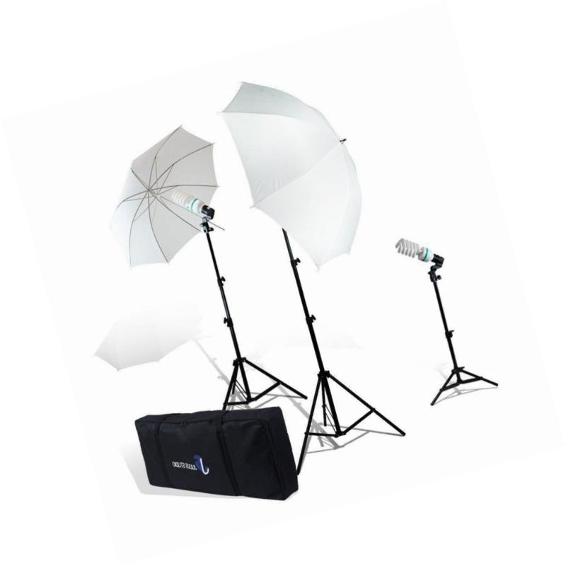 photography video portrait umbrella continuous bulb triple