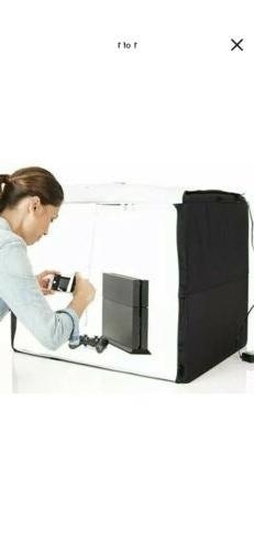 portable foldable photo studio box with led