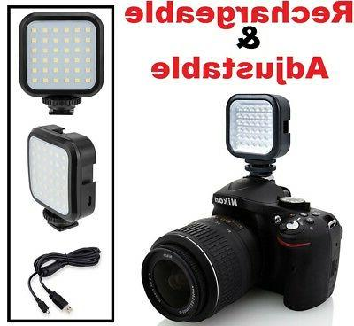 Rechargeable LED Light Set With Power Kit For Canon EOS Rebe