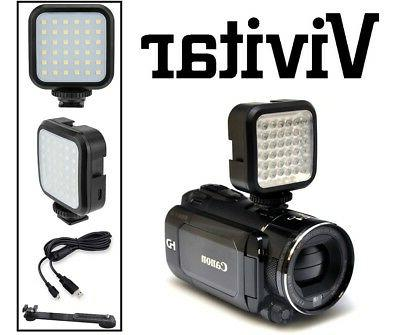 Rechargeable LED Light Set With Kit For Canon Vixia HF R800