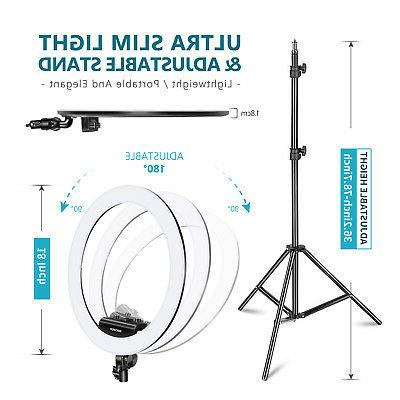 Neewer Ring Light Dimmable LED Ring Light with Clip