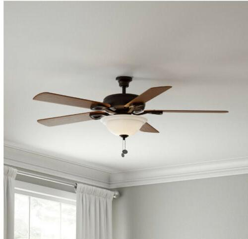 Hampton Bay Rothley 52in Indoor Oil-Rubbed Bronze Ceiling Fa