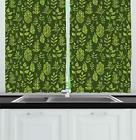 "Sage Kitchen Curtains 2 Panel Set Window Drapes 55"" X 39"" by"