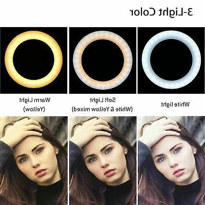 LED Ring Light Selfie Camera Photo Studio Video Tripod Stand Lamp